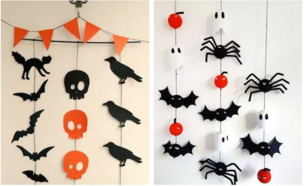 Украшение стен на Хэллоуин