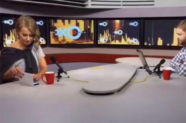 Ксения Собчак и айфон