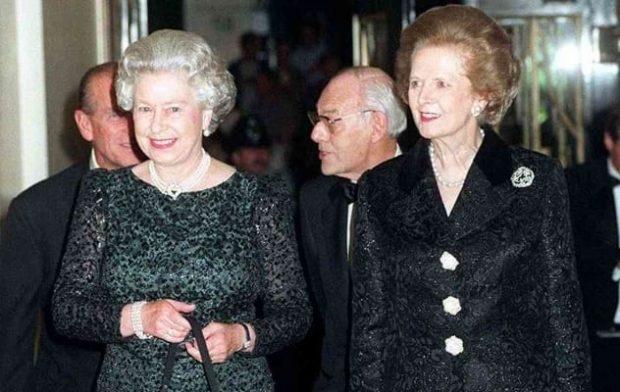 Королева Елизавета и Маргарет Тэтчер