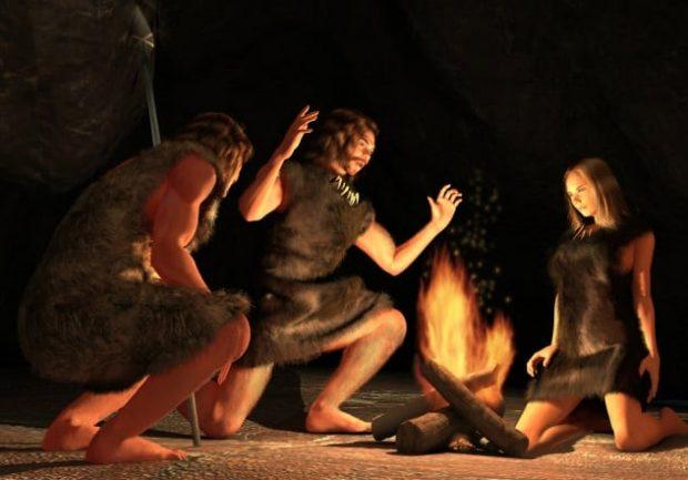 Древние люди у костра