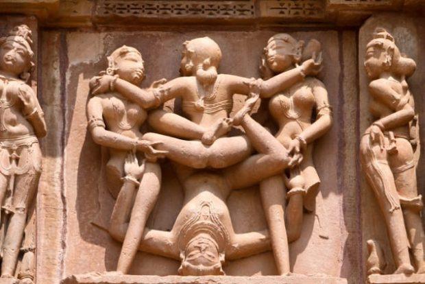Скульптура индийской оргии