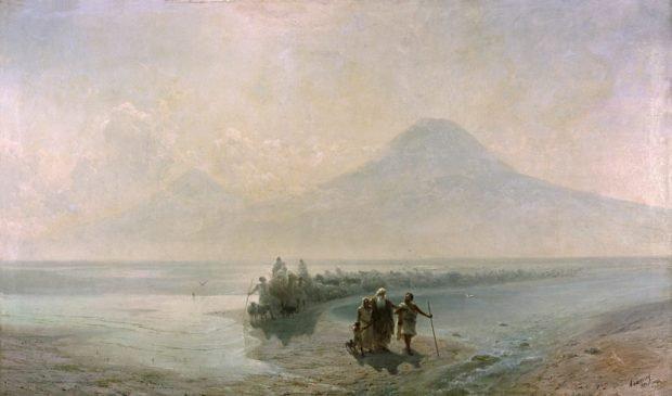 Сошествие Ноя с горы Арарат. Иван Айвазовский