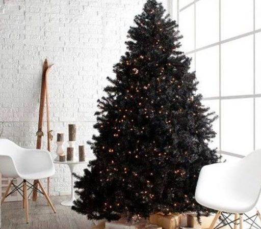 чёрная новогодняя ёлка
