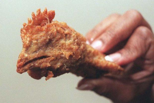 Куриная голова в панировке