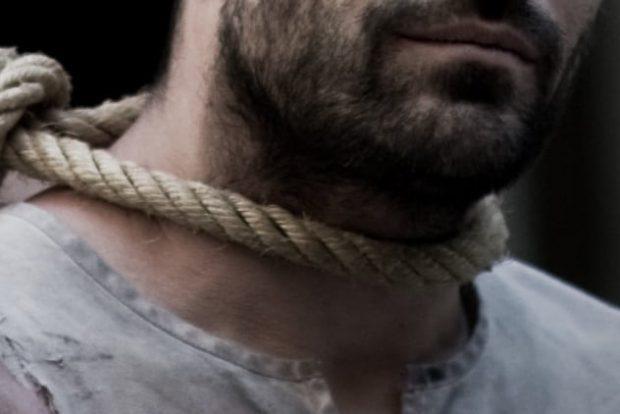 Человек с петлёй на шее