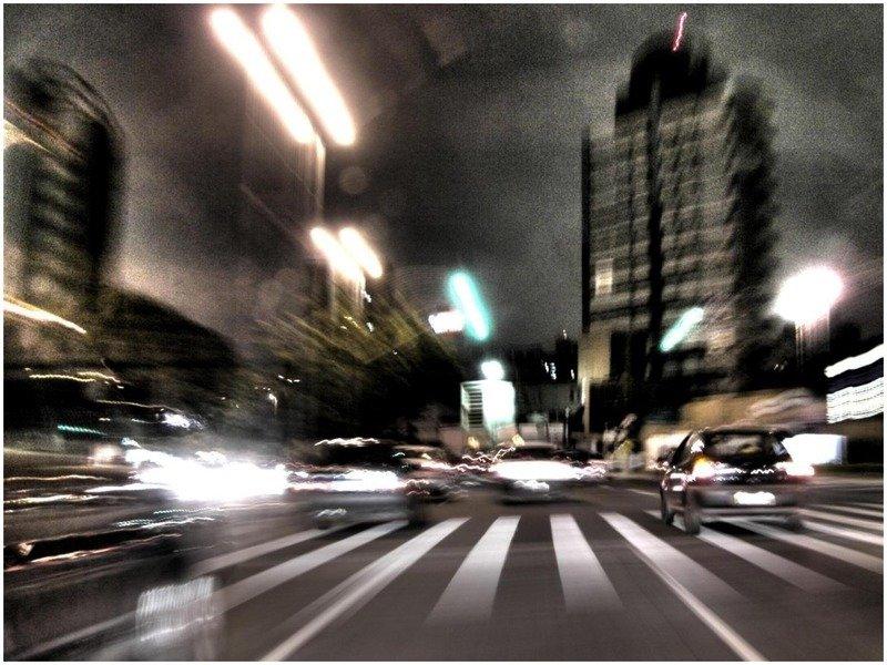 дорога с машинами