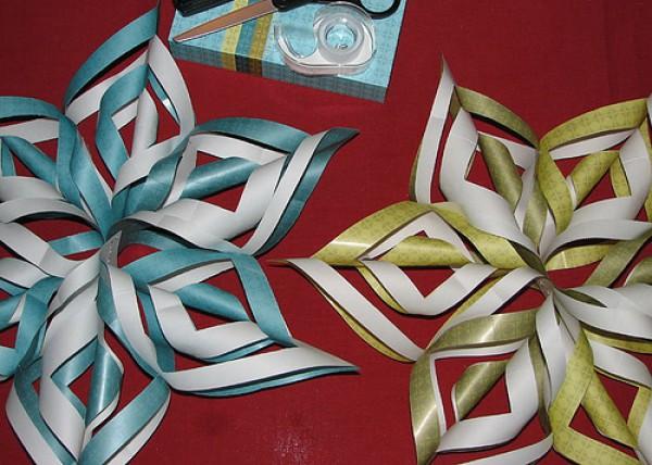 Снежинки оригами