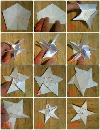 Оригами звездочка