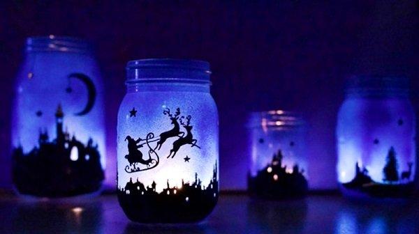 Новогодние светящиеся банки