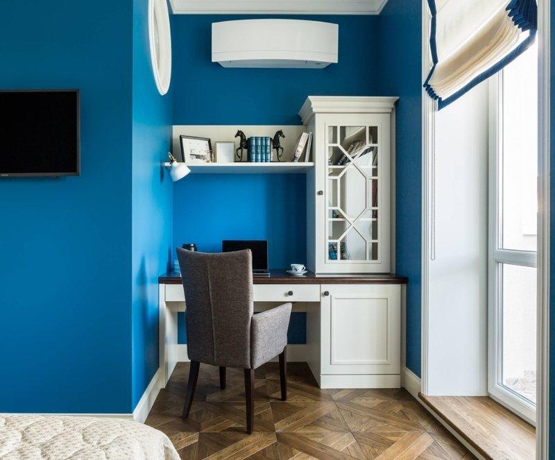 Рабочее место в спальне или гостиной — подборка решений от дизайнеров