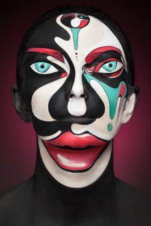 Абстракционизм макияжа