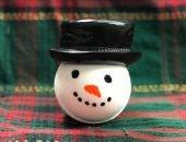 Бомбочка для ванн снеговик