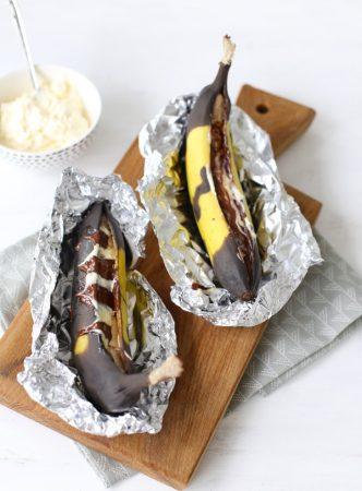 Бананы с шоколадом