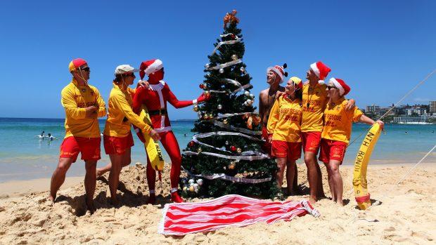 Рождество на пляже в Австралии