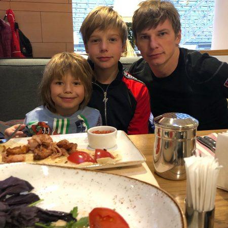 Аршавин с детьми
