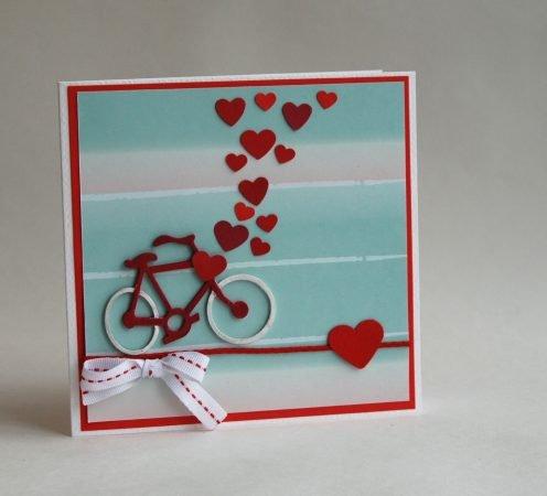 Велосипед с сердечками
