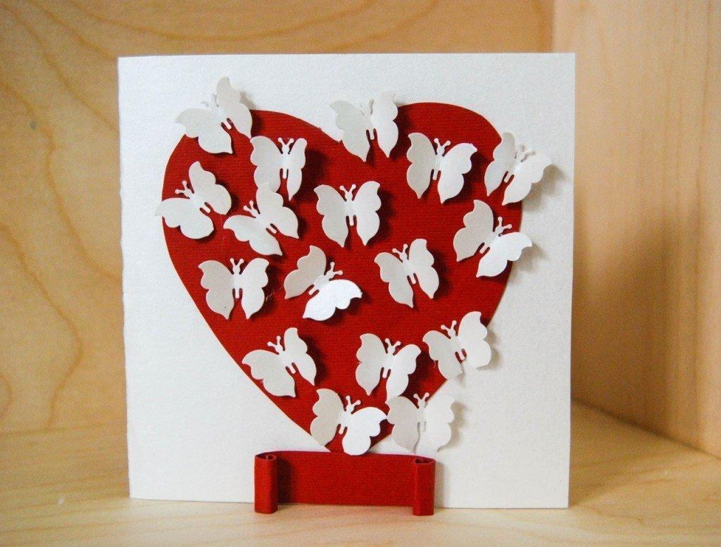 Как сделать открытку сердечко своими руками