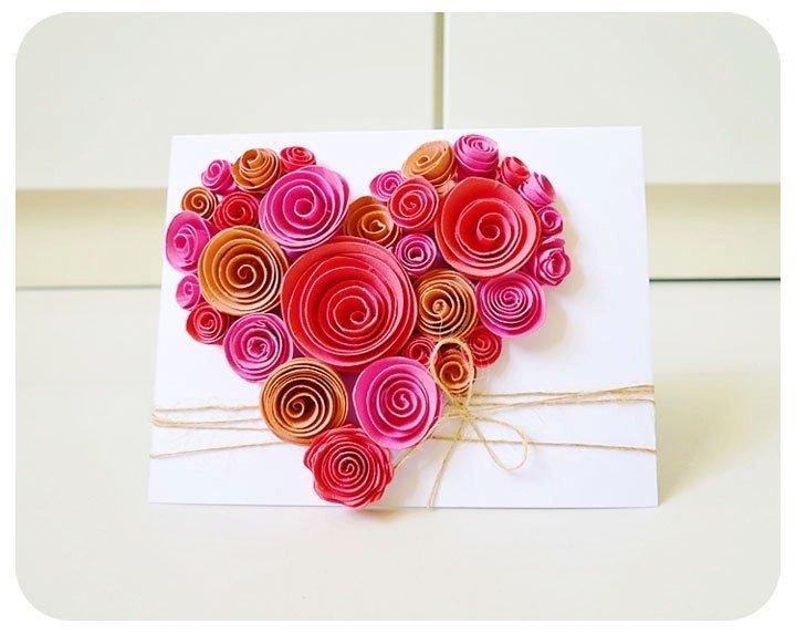 Открытки своими руками с розами из бумаги, днем рождения другу