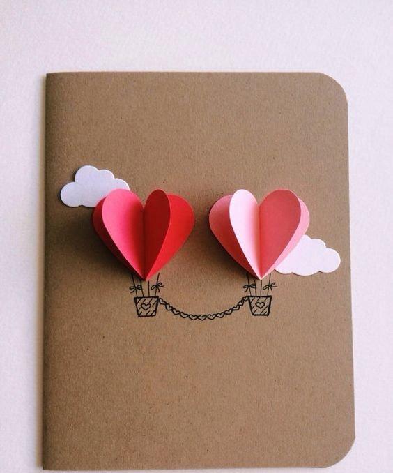 Как сделать открытку к дню святого валентина