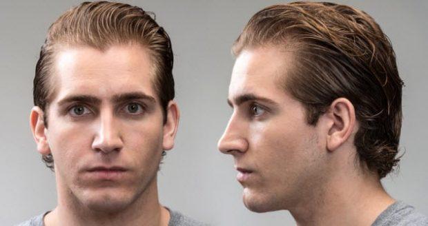 Фото мужчины фас и профиль