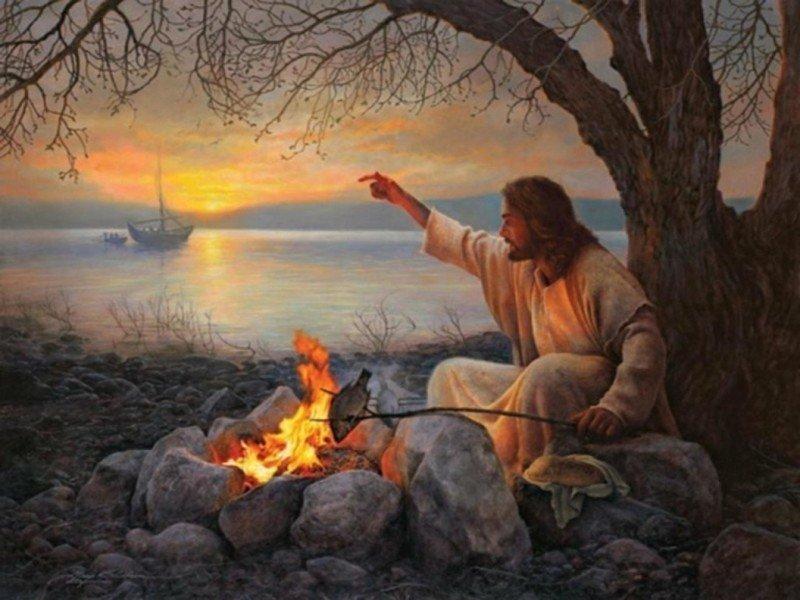 Иисус жарит рыбу