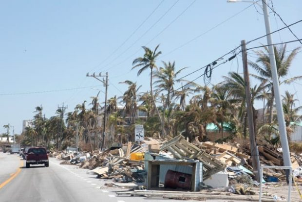 Разрушения после катастрофы