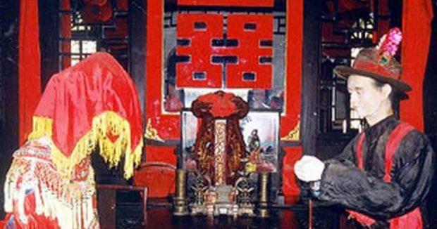 Китайские молодожёны