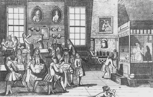 Гравюра лондонской кофейни