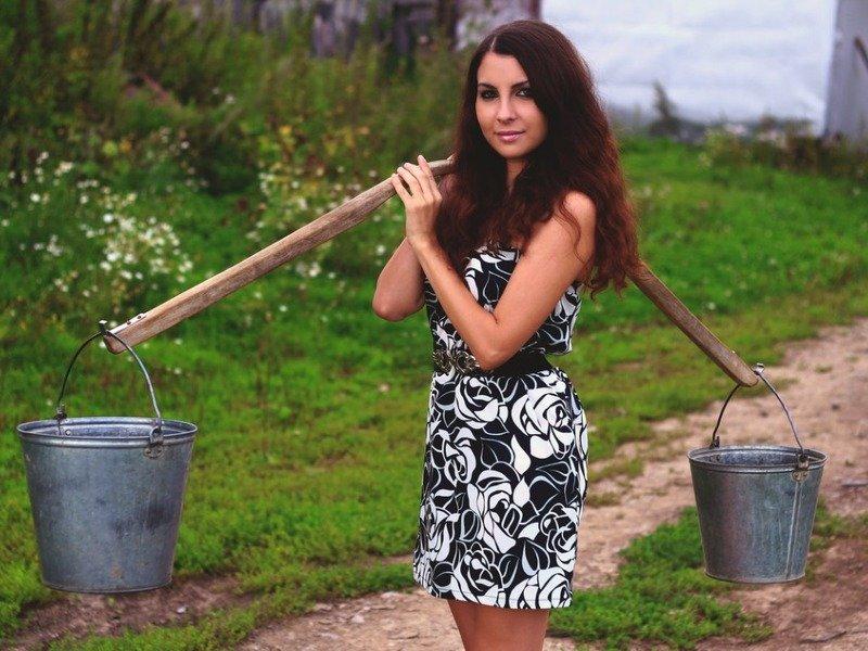 девушка с села