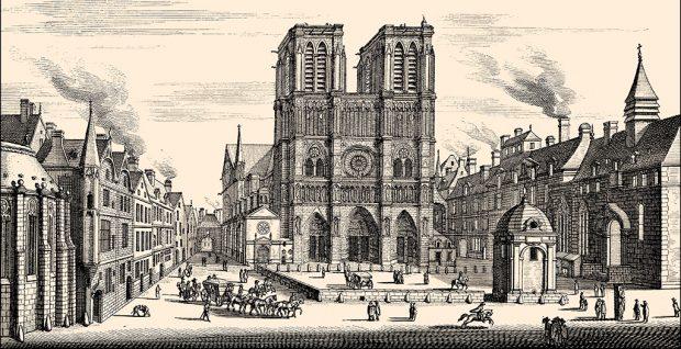 собор парижской богоматери гравюра