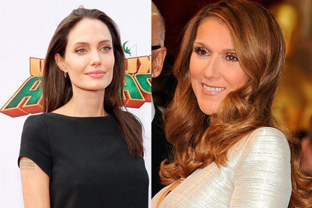 Анджелина Джоли и Селин Дион