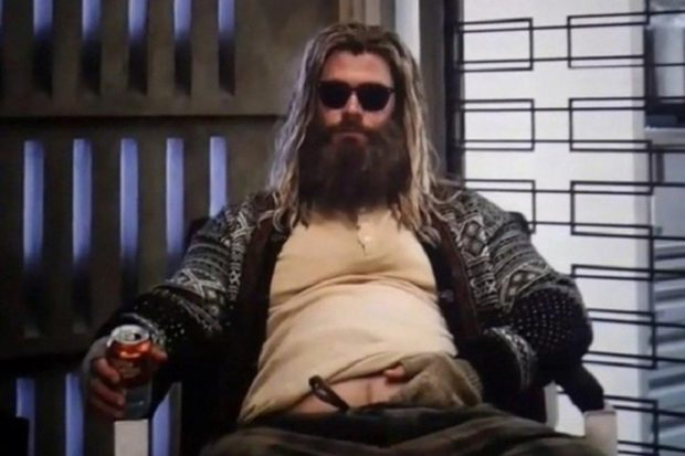 The fat and overgrown Thor of the Avengers turned into a meme