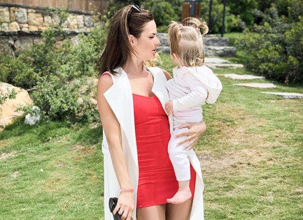 Анна Пескова с дочерью