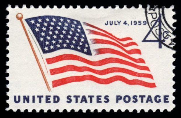 Американская почтовая марка
