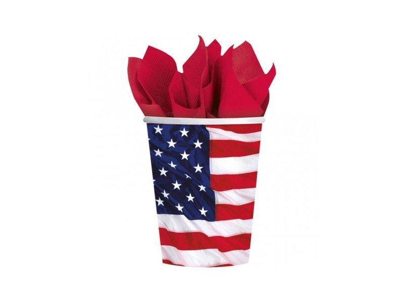 Стаканчик с изображением американского флага