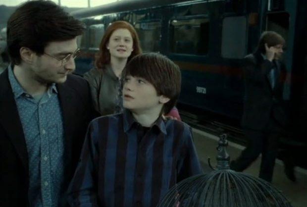 Гарри с сыном и женой