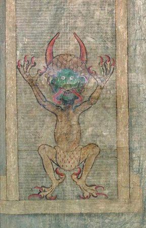 Страница дьявольской библии