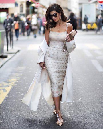 Стильный образ с платьем миди