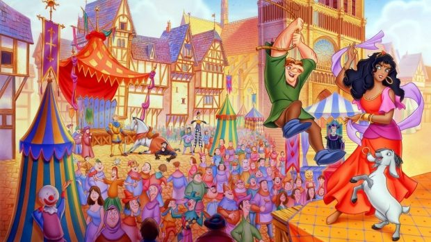 Кадр из мультфильма «Горбун из Нотр Дама»