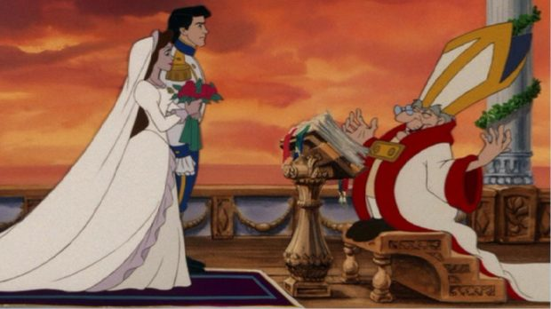 Сцена бракосочетания из мультфильма «Русалочка»
