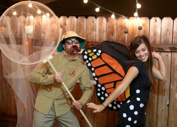 хэлоуиновский костюм бабочка и сачок