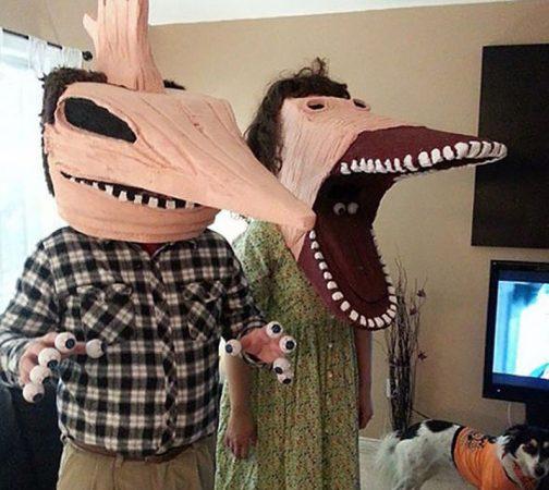 хэлоуиновский костюм битлджус