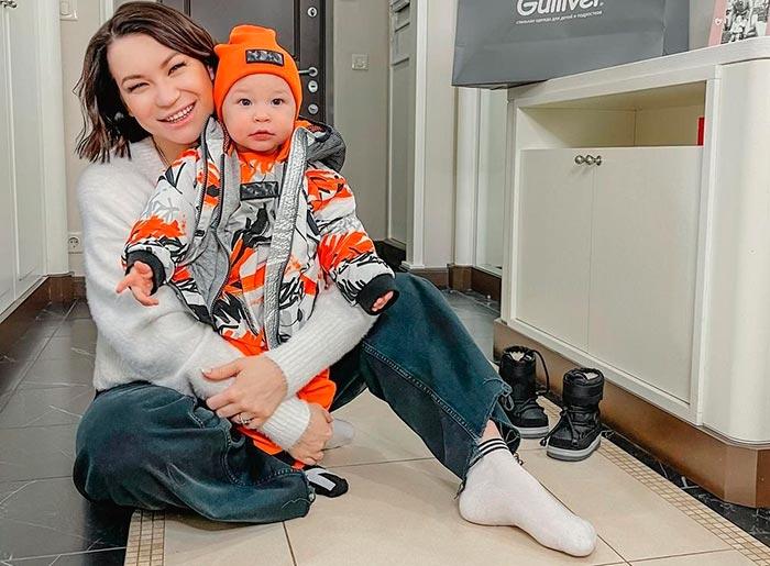 Ида Галич с сыном